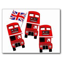 Ônibus de Londres Cartao Postal