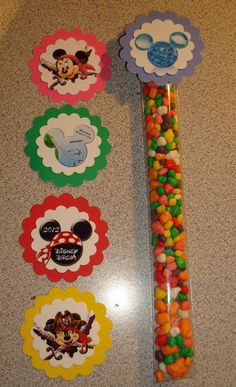 Disney Cruise Candy Tubes.  Can we do something like this for our trip?  There's a FE thing that we want to do...lol  Maybe I can get a tutorial and supplies list including punches and do.