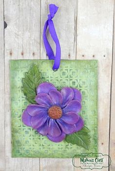 Makin's Clay® Blog: Flower Tile Wall Hanging by Iris Rodriguez