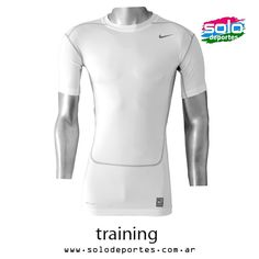 Remera Core Compression  Blanco/Gris  Marca: Nike 510020449792100   $ 299,00 (U$S 51,10)