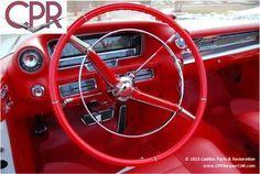 1959 Cadillac Eldorado Biarritz interior restoration by Cadillac Parts & Restoration. www.cprforyourcar.com