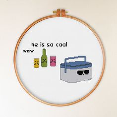 He Is So Cool cross stitch pattern modern cross by ThuHaDesign