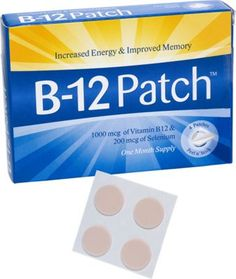 Vitamin B-12 patches relieve deficiency symptoms like loss of energy and memory. Relieve vitamin b-12 deficiency with easily absorbed vitamin B-12 patch.