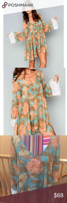 Show Me Your Mumu Portabella Dress Beautiful dress!!! Oversized dress. Has a slight pull under arm as pictured, but other than that, it is in EUC 😍 Gorgeous dress, I just need a bigger size :) Show Me Your MuMu Dresses Mini