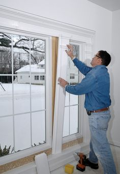 Luxuriöses Wohnen - All For Remodeling İdeas Interior Windows, Interior Trim, Luxury Interior, Home Improvement Projects, Home Projects, Home Renovation, Home Remodeling, Moldings And Trim, Crown Molding