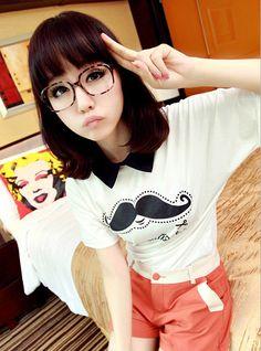 [qz046] เสื้อแฟชั่น Pre Order เสื้อผ้าแฟชั่นเกาหลี เสื้อยืดคอปก | SoMoreMore.Com