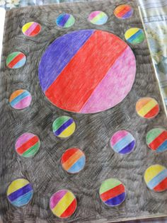 Circles  Colored Pencil Drawing  By Creative Artistry by Christina V Saunders