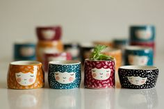 Set of 4 - pick your favorite colors - serving bowl - ceramic dish - kitchen decor - tableware - home decor - #LGLimitlessDesign #Contest