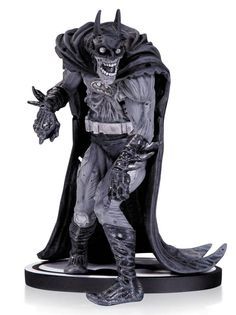 Batman Black & White Statue Zombie Batman Adams - The Movie Store