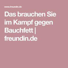 Das brauchen Sie im Kampf gegen Bauchfett | freundin.de