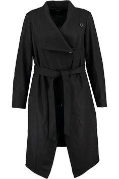 Winter coat | Long coat | Black | Fashion | Plussize fashion | Zwarte jas | Lange wollen winterjas