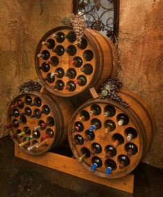 Great wine cellar storage!  Third barrel stacked configuration $725/ea  Click here to customize your wine cellar! http://www.barrelrack.com/products