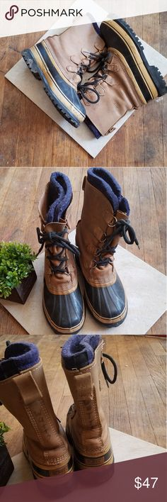0811870806a Sorel Mens Caribou Size 7 Hunting Boots Insulated These boots are excellent  for cold weather