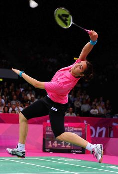 Badminton players are always moving their feet on the court