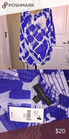 NWT Lane Bryant tunic Stretch collar. Can be worn off shoulders. Beautiful royal blue tunic. Flowy top. Lane Bryant Tops