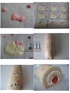 Hello Kitty Swiss rolls