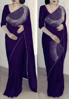 We are the manufacturer and exporter of indian ethnic wear. We have the huge variety and maintain designs at a time. The one stop shop for wholesale purchasing. Simple Saree Designs, Simple Sarees, Fancy Blouse Designs, Saree Blouse Designs, Sari Blouse, Stylish Sarees, Stylish Dresses, Fashion Dresses, Bollywood Designer Sarees