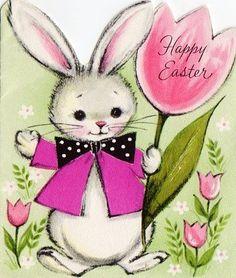 Vintage Easter Card #vintage #Easter #card