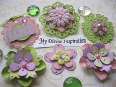 Sweet Girl Paper Embellishments by mydivineinspiration on Etsy