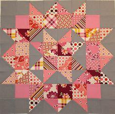Pink Swoon block