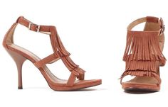 6298fe89f8ba Brown Fringe High Heel Adult Shoes - Clearance Sizes Dress Sandals
