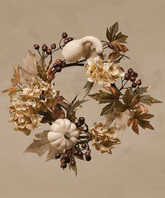 Look at this #zulilyfind! Saddle Brook Hydrangea Gourd Wreath #zulilyfinds
