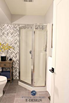 The marvellous Small Bathroom, Corner Shower Update Ideas. Herringbone With Bathroom Corner Shower Tile Ideas photo below, is part … Corner Shower Tile, Corner Shower Stalls, Corner Shower Enclosures, Fiberglass Shower Stalls, Interior Design Degree, Bathroom Pictures, Bathroom Ideas, Bathroom Storage, Bathroom Showers