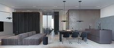 Roohome.com - Are you bored with your apartment design right now? This is your time to renovate your apartment become more stylish with this minimalist apartment designs. The designer has been created a variety of simple apartment but combining with a modern design in it. Then this design also applies ...
