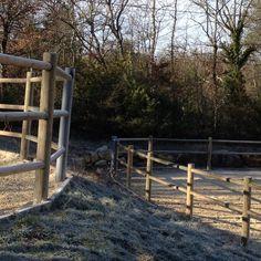 rondins-autoclave, clôture chevaux , aménagement paysager , pin classe 4 , rondins fraisés