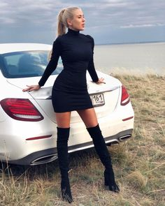 High Boots, Fitness, Heeled Boots, Beautiful Women, Bodycon Dress, Sexy, Womens Fashion, How To Make, Sweaters
