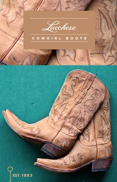 Details about Lane Western Boots Womens Cowboy Rhinestones Taupe ...