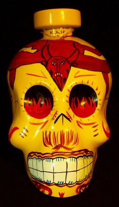 "Kah Tequila 10"" Store Display Bottle Reposado Skull Signed & Numbered Day Dead #KahTequila Sold $11.99"