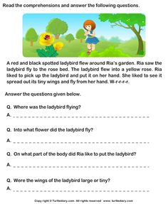 Check out Turtle Diary's large collection of Reading Comprehension Stories worksheets. 2nd Grade Reading Worksheets, First Grade Reading Comprehension, Picture Comprehension, English Worksheets For Kids, Reading Comprehension Worksheets, Comprehension Strategies, Reading Passages, Number Worksheets, Reading Response