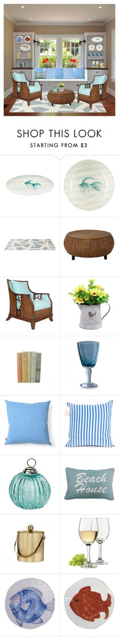 """Beach House"" by anawinchester ❤ liked on Polyvore featuring interior, interiors, interior design, home, home decor, interior decorating, Somerset Bay, David Francis Furniture, Vagabond House and Heal's"