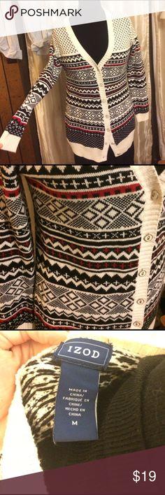"M🍷IZOD🍷 Cardigan Sweater Gorgeous long cardigan in EUC! 31"" long. 60% cotton 40%acrylic Izod Sweaters Cardigans"