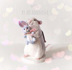 """Миниатюра ручной работы. Ярмарка Мастеров - ручная работа. Купить Авторская игрушка """"Крыска"""". Handmade. Игрушка, миниатюра, мышка"""