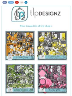 "Ad:New Scrapkits ""A Splash of Orange"" & ""A Splash of Yellow"",CU Products,& Blog Freebie from TLP Designz!https://madmimi.com/s/25b364"