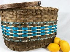 "BASKET WEAVING PATTERN ""Alysha"" Large Gathering Basket by Bright Expectations for Rodan and Fields"