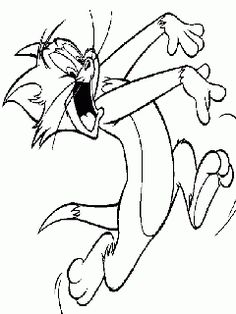 obr. 443 - omalovánky Tom a Jerry  - kocour Tom