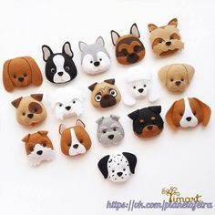 New Craft Felt Pattern Feltro 47 Ideas Electric Quilt, Felt Dogs, Felt Christmas Ornaments, Felt Patterns, Dog Pattern, Handmade Felt, Clay Crafts, Felt Crafts Dolls, Felt Crafts Diy