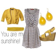 goes with my grey and yellow obsession and my chevron obsession :)
