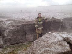 Potter County firefighter stands next to one of the hail drifts. (Photo: Potter County Fire Department via NWS) Amarillo, TX