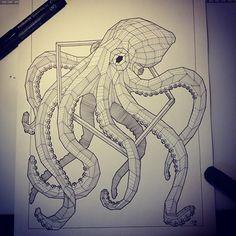 Geometric_octopus_in_polygon_frame_tattoo_design.jpg (480×480)