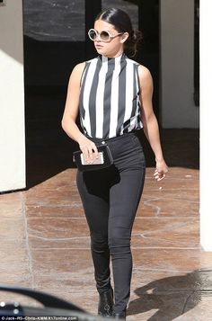 Not her best look: Earlier today, Selena looked a far cry from her cool and casual campaig...