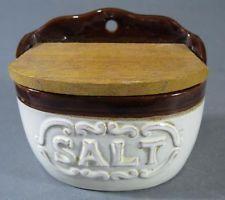 retro kitchenalia in Collectable Homeware and Kitchenware Salt Box, Cellar, Kitchenware, Retro Vintage, Japan, Ceramics, Brown, Ceramica, Pottery