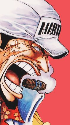 "Nice to see u again Saka-san "" The absoulte justice"" One Piece World, One Piece Ace, One Piece Comic, One Piece Luffy, Monkey D Luffy, Anime Dad, Manga Anime, Zoro, Anime Zone"