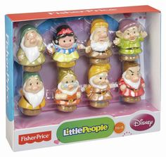 Toddler Toys: Disney Fisher-Price Little People Princess Sets - imaginative play sets that help with manipulation, storytelling, and cooperative play. Little People, Little Ones, Disney Princess Songs, Disney Dwarfs, Snow White Seven Dwarfs, Toys Uk, Collector Dolls, Imaginative Play, Fisher Price