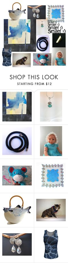 """Enjoy the Little Things"" by anna-recycle ❤ liked on Polyvore featuring Aquarelle, modern, rustic and vintage"