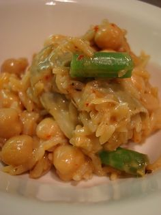 Caribbean Coconut Rice with Garbanzos and Veggies.  Vegan/Glutten-Free; a little bit sweet & spicy; and coconutty.