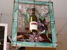 Love this Wine Bottle incorporated into the stained glass.